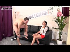 Horny dude came challenge Mea Melone & his wife watched it