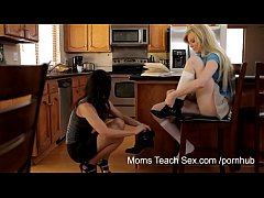 Moms Teach Sex to daughter - Mom turns study time into fuck time with her daughter friend