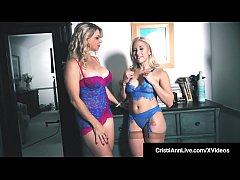 Curvy Asian Latina Cristi Ann & Busty Blonde Bombshell Vicky Vette discuss the adult industry until Vicky takes out her wand of wisdom & Hitachi vibes with Cristi Ann until they both cum!
