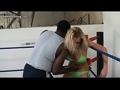 Blonde vs Black Guy Maledom Interracial Mixed W...