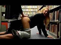 SCANDAL Real Teen Couple Fuck in Library - More video on - 69SexLive.com