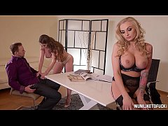Horny Milf Cathy Heaven Stars In Ass Fucking 3some