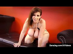 Award Winning Milf Sara Jay dances around a stripper pole in a skimpy thong & top but she just has to finger bang herself which she does with absolute sexual glee, until she orgasms all over her hand!