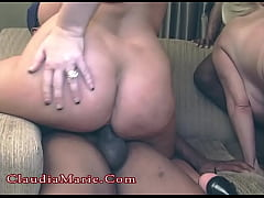 Claudia Marie And Kayla Kleevage Interracial Group DP