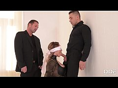 Submissive Victoria Summers Blindfolded & Fucked by 2