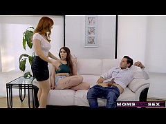 MomsTeachSex - Stepmom Joins Step Siblings Fucking