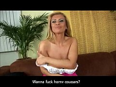 Blonde Cougar Gets Titfucked
