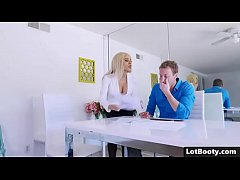 Anal fucking with blonde latina PAWG Luna Star with tight booty and juicy boobs