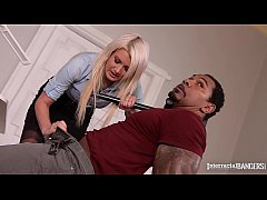 Interracial interrogation makes Layla Prince squirt after deep anal & pussy DP action