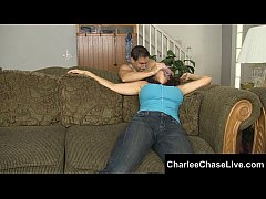 Charlee Chase is exploring her kinky side letting herself get tied up, tickled and foot fucked until her lover shoots his load all over her toes. Meet and cam LIVE with Charlee at CharleeChaseLive.com