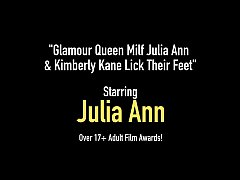 Glamour Queen Milf Julia Ann & Kimberly Kane Lick Their Feet