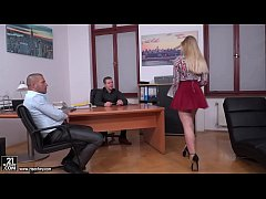 Double penetrated younger secretary - Selvaggia