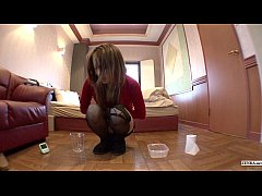 Subtitled Japanese gyaru countdown to pee with ...