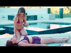 GIRLSWAY - Practicing turns into kissing and en...