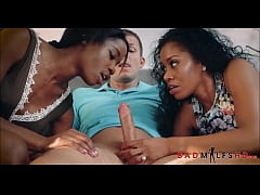 Black Step Mom Threesome With Daughter And Her Boyfriend