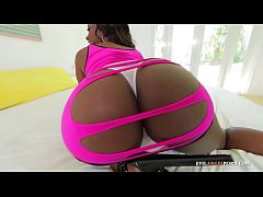Big-ass black beauty gets fucked from behind in this pov porn video