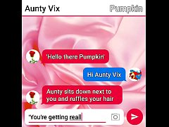 Young guy sext roleplays with his naughty Aunty part one