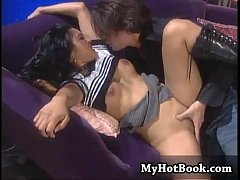 Mika Tan does a little goth play in this scene tha
