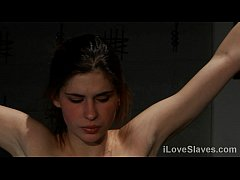 Perfect brunette serves her Master, spanked and fucked