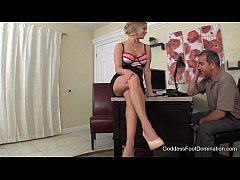 Girlfriend's Rich Father Blackmailed - Foot Fetish Foot Job