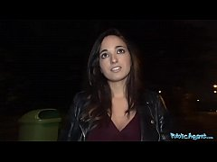 Public Agent Spanish hotty pussy pounded by a s...