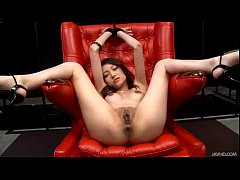Shaved Japanese babe Ibuki has her legs spread ...