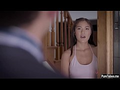 Cute petite Asian teen banged by an angry census taker