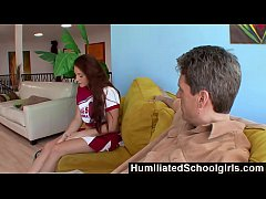 HumiliatedSchoolGirls - Pompom girl gives hot sex for a car ride