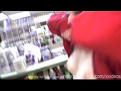 hot brunette naked in restaurant gas station and on the streets of tampa florida