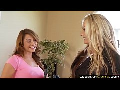 LesbianCums.com - Mom and Daughter Lesbian Fantasies in Home