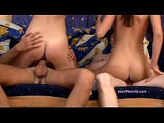 Foursome teen party fucking