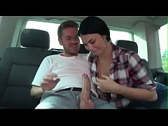 Amateur Mother with large breasts Fucking In A Van