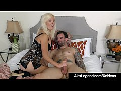 Skinny Blonde Alessandra Noir Moans with pleasure as Fat French Cock, Alex Legend, stuffs her holes & gives her what she really wanted: A big load of cum in her mouth!