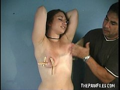 Caras amateur tit and extreme nipple clamped do...
