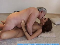 YouPorn - Fat old bastard fucks a hot young chick