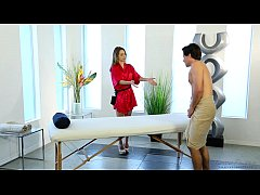 Shy guy on his first massage with Kimmy Granger - Fantasy Massage