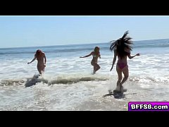 Gorgeous surfer babes fuck with life guard