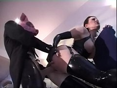 Lesbian kiss for latex fetish girls