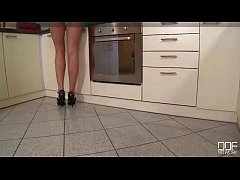Insanely Hot Nymphomaniac Housewife gets drilled in the Kitchen