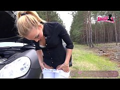 DUPE - German Student girl forced to fuck at car accident