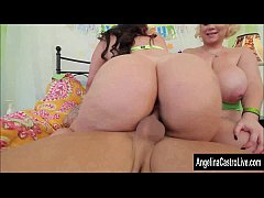Busty BBW Angelina Castro Threesome Fuck For Birthday