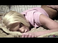 Wife too drunk so the teen babysitter blonde is next