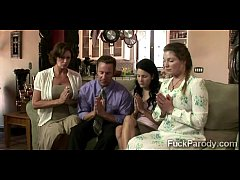 Religious MILF and her hot young daughters pray for a big fat 2014-4min-render-8