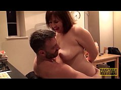 Hardfucked plumper fed with doms big cock and h...