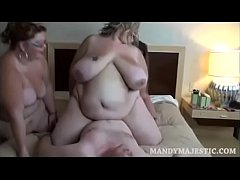 BBW Mandy Majestic and Friends Ride Skinny White Fan