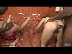 Granny group interracial fuck the grannies suck black cocks and anal sex