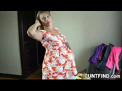 Extremely Pregnant Babe Changes Cloths For You - Hottest Videos