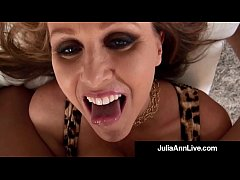 Julia Ann, the Award Winning Mom I'd Like To Fuck, Performs a Beautiful Wet Blow Job On Your Dick - All POV for Your Pleasure & Wants Your Cum On Her! Full Video & Live @JuliaAnnLive.com!