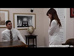 Mormon Step Sister Alison Rey Is Called Into Her Brothers Office For An Evaluation
