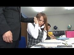 Asian office lady Saki squirting as the fellas stimulate her